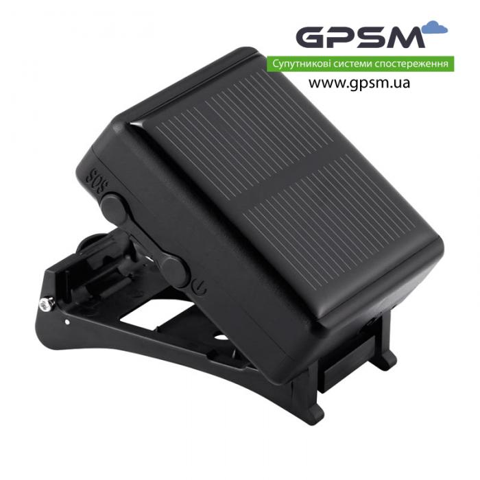 Водонепроницаемый GPS-трекер с большим аккумулятором 3000 мА/ч и солнечной батареей GPSM U50-s изображение 2