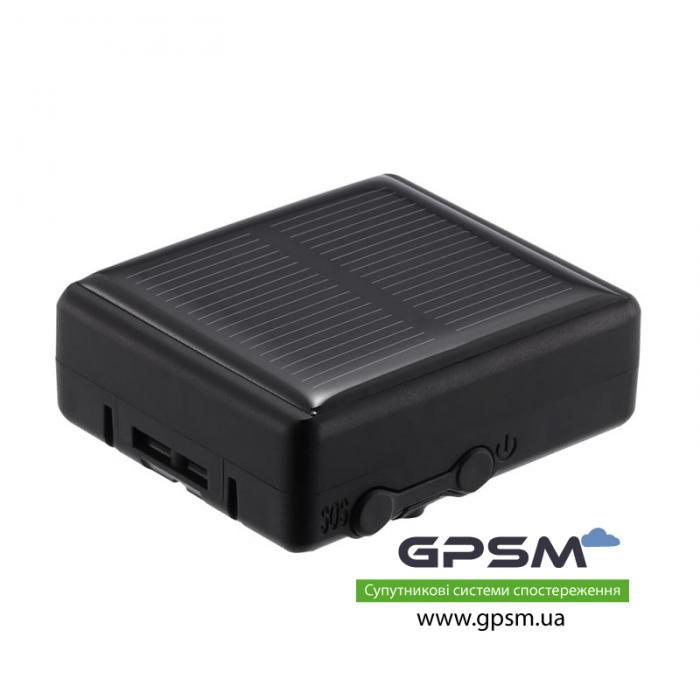 Водонепроницаемый GPS-трекер с большим аккумулятором 3000 мА/ч и солнечной батареей GPSM U50-s изображение 1