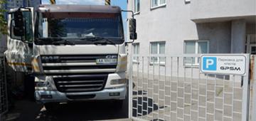 Система GPS контроля за расходом топлива на автобетоносмеситель DAF