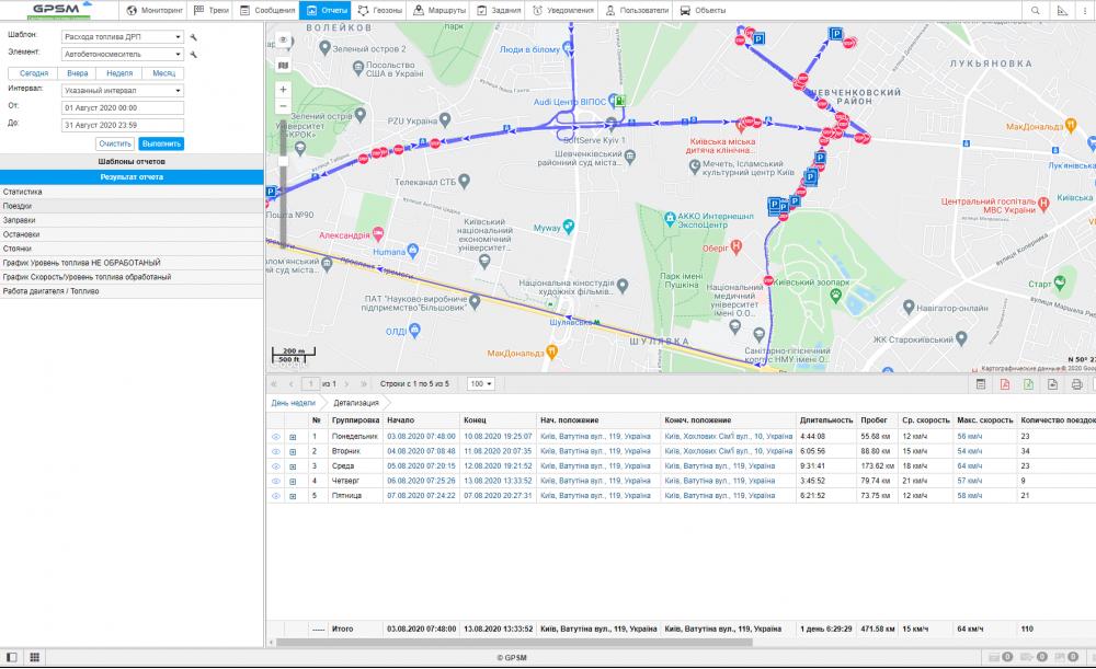 Система GPS контроля за расходом топлива на автобетоносмеситель DAF изображение 12