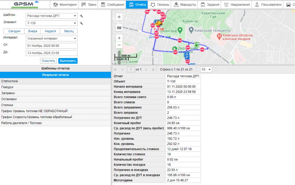 Система GPS мониторинга и контроля топлива на бульдозер T-130 изображение 18