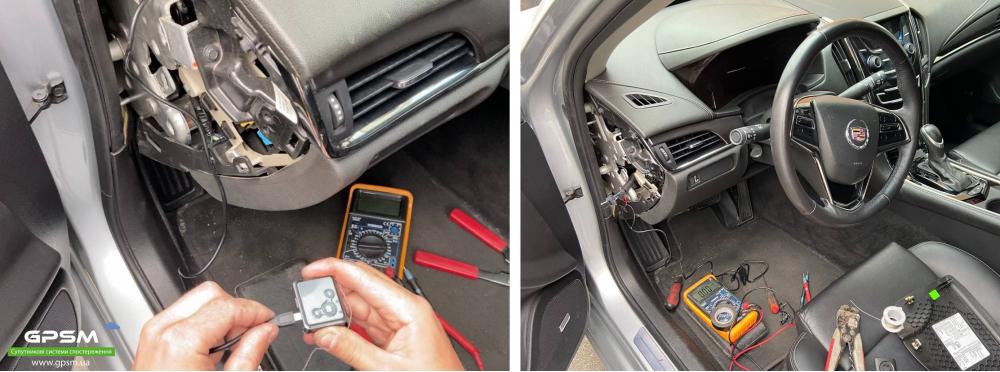 Монтаж GPS трекера на автомобиль Cadillac изображение 2