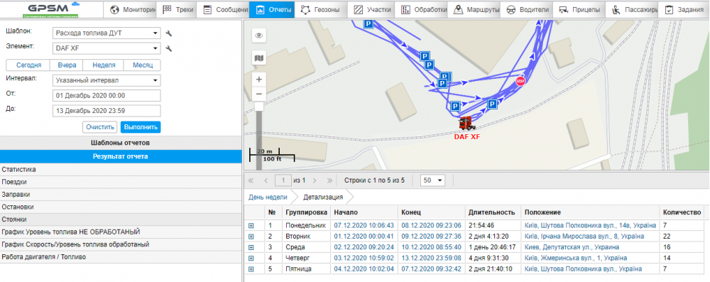 Система GPS с датчиком уровня топлива на DAF изображение 14
