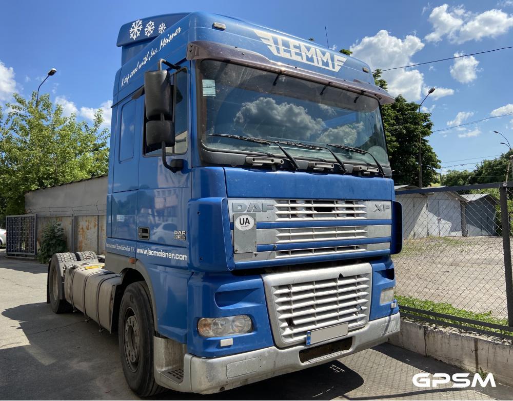 Установка датчика уровня топлива на грузовой автомобиль DAF XF 95 380 изображение 2