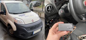 Установка GPS трекера GPSM U9 для коммерческого транспорта на Fiat Qubo