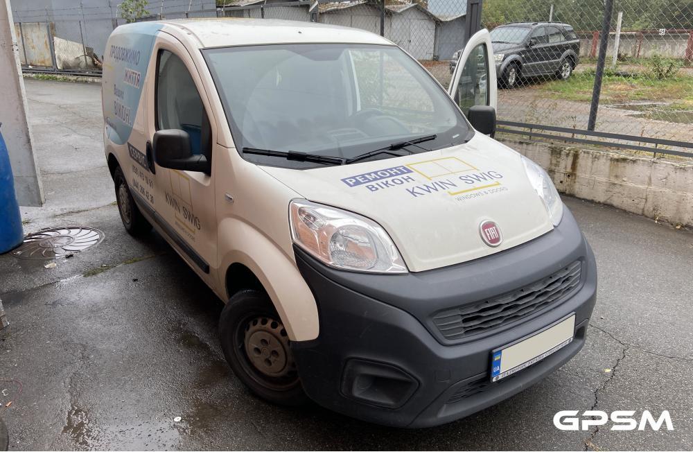 Установка GPS трекера GPSM U9 для коммерческого транспорта на Fiat Qubo  изображение 1