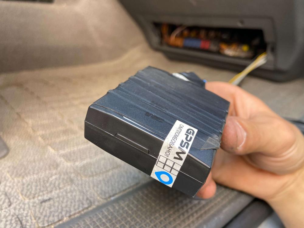 GPS система контроля топлива на кран манипулятор MAN изображение 3