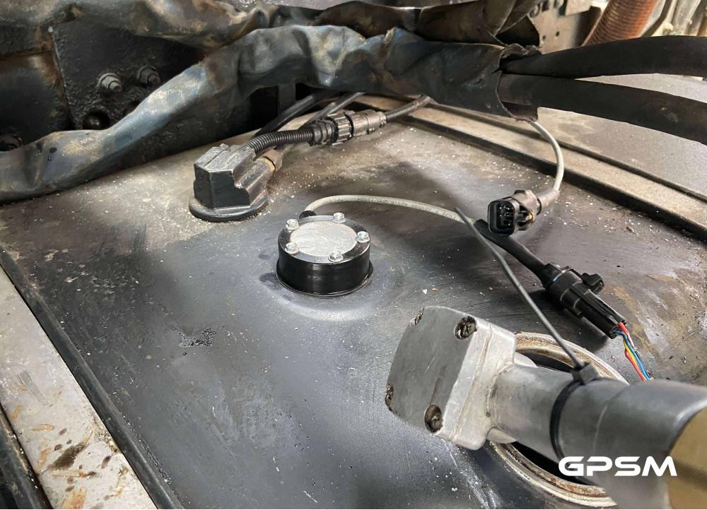 GPS система контроля топлива на кран манипулятор MAN изображение 4
