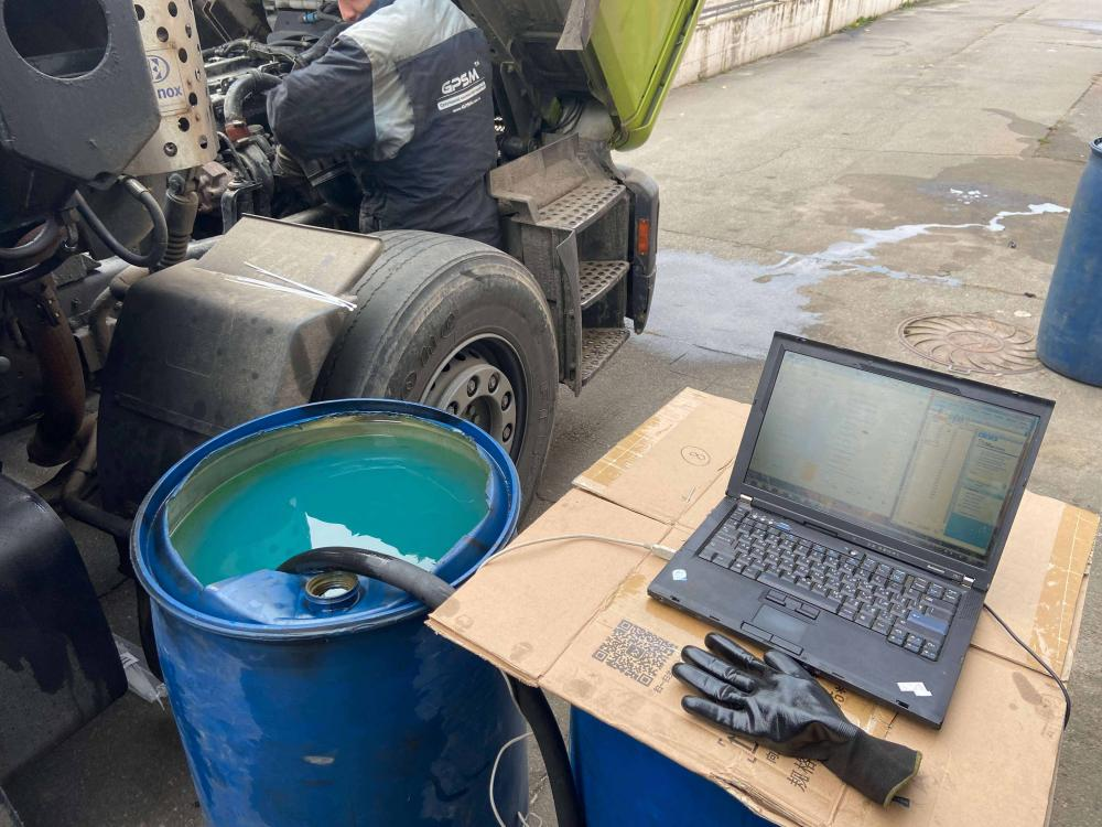 GPS система контроля топлива на кран манипулятор MAN изображение 6