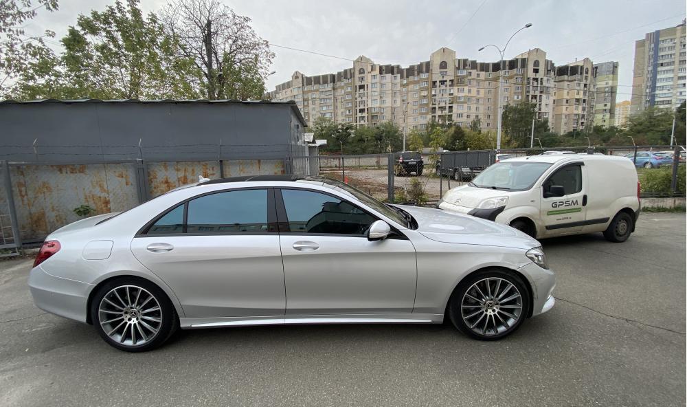 Установка GPS с блокировкой двигателя на Mercedes-Benz S-Class изображение 1