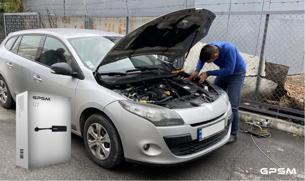 Установка GPS трекера с дистанционной блокировкой двигателя на Renault Megane изображение 1