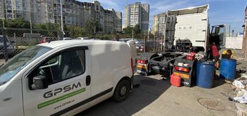 GPS система контроля расхода топлива на Volvo FH 500