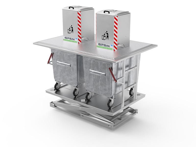 Подземные контейнеры для мусора с автономным гидравлическим подъёмником изображение 1