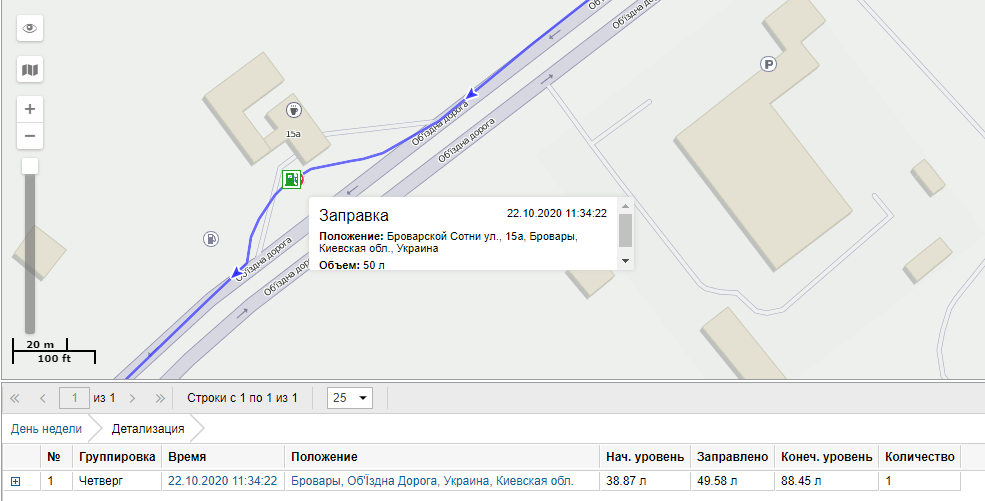 GPS система контроля топлива на кран манипулятор MAN изображение 19