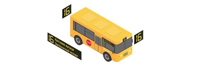 Комплект табло для малогабаритных автобусов  изображение 1