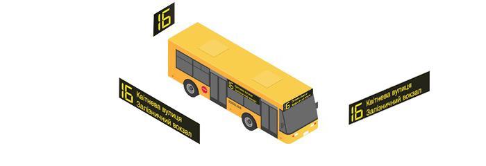 Комплект табло для среднегабаритных автобусов  изображение 1
