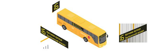 Комплект табло для крупногабаритных автобусов  изображение 1
